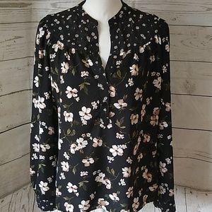 Collective Concepts black floral print blouse
